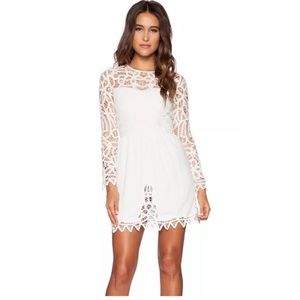 NWT Free People Saylor josie off white lace dress